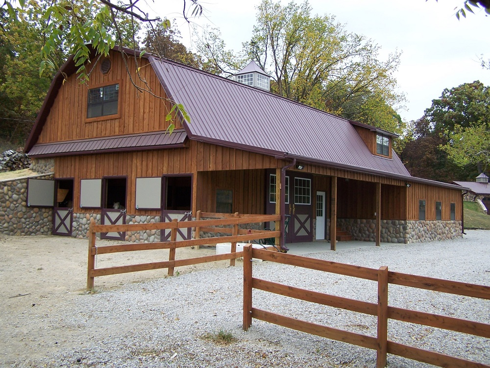 Home mqs structures for Horse pole barn