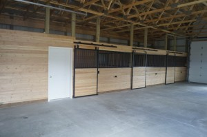 Tack room and stalls