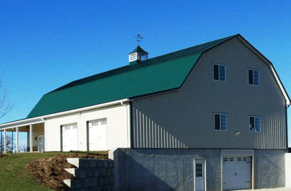 Custom Pole Barn In Kentucky