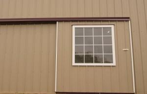 Single sliding door with window